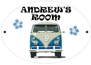 Personalised Campervan Door Plaque