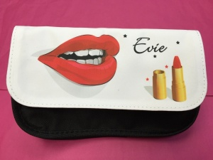 Evie - Personalised Lips Make Up Bag / Case