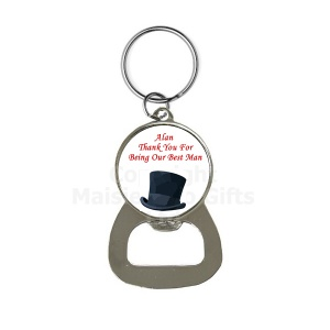 Personalised Bottle Opener Wedding Keyring