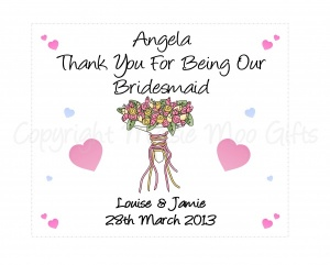 Personalised Bridesmaid / Maid Of Honour / Matron Of Honour Glasses Cleaning Cloth