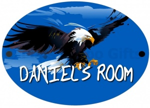 Personalised Hawk Door Sign