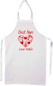 Personalised Best Mum Hearts Apron