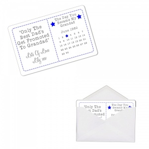 Personalised Day You Became My Grandad Sentimental Metal Wallet Purse Card