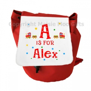 Personalised Alphabet Train Backpack