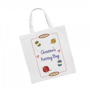 Personalised Knitting Tote Bag