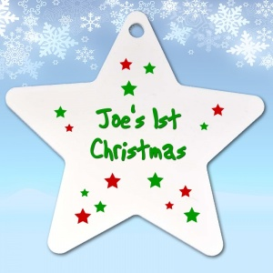 Babys first 1st christmas tree decoration ornament for Baby christmas tree decoration