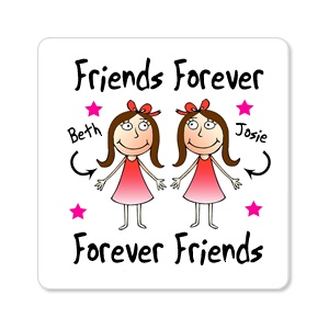 Friends Forever Personalised Fridge Magnet