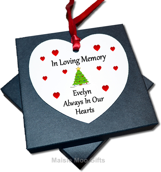 Personalised In Loving Memory Metal Hanging Heart  Memorial
