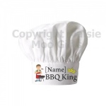 Personalised BBQ King Chef Hat