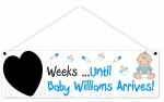 Personalised Countdown Baby Boy Plaque