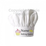 Personalised Baking Queen Chef Hat
