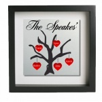 Family Tree Personalised Metal Wall Art (5 Names)