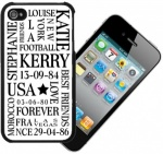 Personalised iPhone 5 Words Case