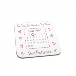 Personalised Day You Became My Mum Wooden Gift Coaster