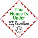 This House Is Under Elf Surveillance Metal House Window Sign