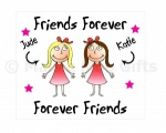 Friends Forever Personalised Glasses Cleaning Cloth