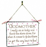 Godmother Hanging Vintage Style Design Plaque