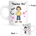 Number One Mum Personalised Mug