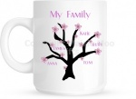 Apple Blossom Family Tree Personalised Mug