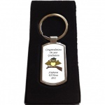 Personalised Graduation Owl Keyring