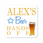 Personalised Beer Wooden Gift Drinks Coaster