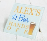 Personalised Beer Glass Gift Drinks Coaster