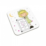 Personalised I Love You To The Moon & Back Child Coaster (Blonde Haired Girl)