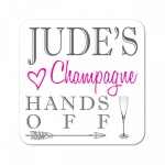 Personalised Champagne Wooden Gift Drinks Coaster