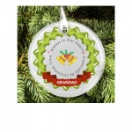 Personalised Christmas Tree Memorial Remembrance Frosted Glass Decoration