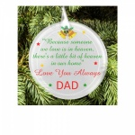Personalised Christmas Tree Memorial ''Little Bit Of Heaven'' Round Frosted Glass Decoration