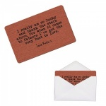 Personalised  Father Brushed Copper Style Metal Wallet / Purse Sentimental Card