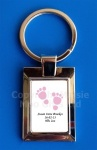 Personalised New Baby Girl Keyring