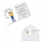 Personalised Bestest Godfather Metal Wallet / Purse Sentimental Card
