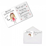 Personalised Bestest Godmother Metal Wallet / Purse Sentimental Card