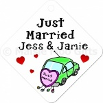 Personalised Just Married Car Window Sign