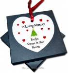 Personalised In Loving Memory Metal Hanging Heart