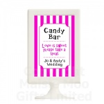 Personalised Candy Cart Striped Wedding Table Sign