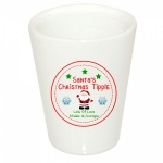 Personalised Santa Claus Christmas Eve Ceramic Frosted Shot Glass