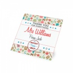 Personalised Thank You Teacher Glass Coaster Gift