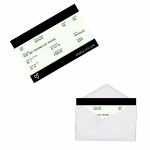 Personalised BLACK Train Ticket Metal Wallet / Purse Sentimental Card