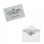 Personalised Father Of The Bride Dad Brushed Steel Silver Style Metal Wallet / Purse Sentimental Card