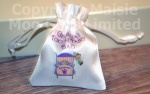 Personalised Girls Princess Tooth Fairy Satin Bag