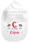 Personalised Alphabet Name Princess Bib