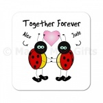 Personalised Together Forever Ladybird Coaster