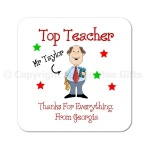 Top Teacher Personalised Coaster