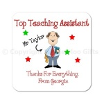 Top Teaching Assistant Personalised Coaster