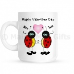 Personalised Happy Valentines Day Ladybird Mug