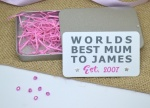 Worlds Best Mum Personalised Earring Gift Set