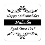 Aged Since.. Personalised Birthday Coaster