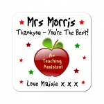 Thank You Teaching Assistant Personalised Gift Coaster